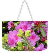 Pine Conifer Art Print Pink Azaleas Flower Garden Baslee Troutman Weekender Tote Bag