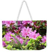Pine Conifer Pink Azaleas 30 Summer Azalea Flowers Giclee Art Prints Baslee Troutman Weekender Tote Bag