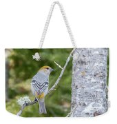 Pine Grosbeak Weekender Tote Bag