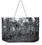 Pine Land In B/w Weekender Tote Bag by Rudy Umans