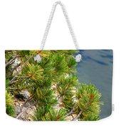 Pine Needles Over Water Weekender Tote Bag
