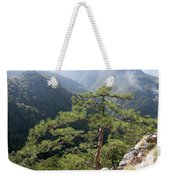 Pine Tree On Mountain Landscape Weekender Tote Bag