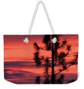 Pine Tree Sunrise Weekender Tote Bag