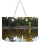 Pine Trees Across Mississippi River Weekender Tote Bag