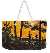 Pine Trees At Sunset Weekender Tote Bag