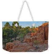 Pine Trees On Red Cliffs Weekender Tote Bag