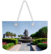 Pineapple Fountain In Charleston Weekender Tote Bag