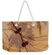 Pinecone Overlay Bright Horizontal Weekender Tote Bag