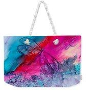 Pink And Blue Dragonflies Weekender Tote Bag