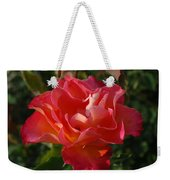 Pink And Gold Rose Weekender Tote Bag