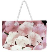 Pink And Green Blossoms Weekender Tote Bag