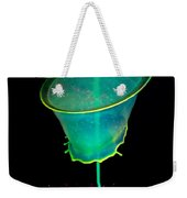Pink And Green Composition Weekender Tote Bag