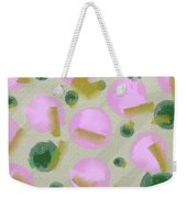 Pink And Green Inspiration Weekender Tote Bag