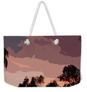 Pink And Mauve Sky Abstract Weekender Tote Bag