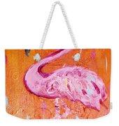 Pink And Orange Flamingo  Weekender Tote Bag