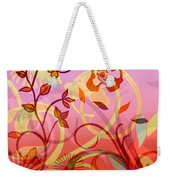 Pink And Purple Flower Medley Weekender Tote Bag