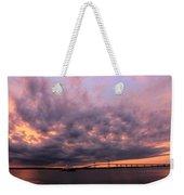 Pink And Purple Sunset Weekender Tote Bag