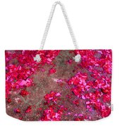 Pink And Red Firecracker Debris Abstract Weekender Tote Bag