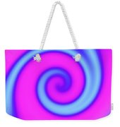 Pink And Turquoise Swirl Abstract Weekender Tote Bag