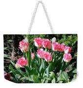 Pink And White Fringed Tulips Weekender Tote Bag