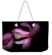 Pink And White Magnolia In Silhouette Weekender Tote Bag