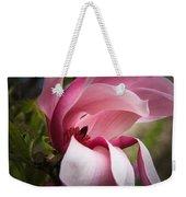 Pink And White Magnolia Weekender Tote Bag