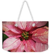 Pink And White Poinsettia Weekender Tote Bag