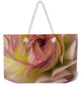 Pink And White Ranunculus Weekender Tote Bag