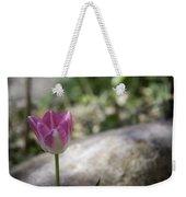 Pink And White Tulip 02 Weekender Tote Bag