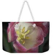Pink And White Tulip Center Squared 2 Weekender Tote Bag