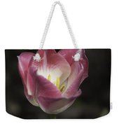 Pink And White Tulip Squared 2 Weekender Tote Bag