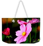 Pink And Yellow Cosmo Weekender Tote Bag