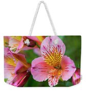 Pink And Yellow Flora Weekender Tote Bag