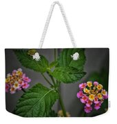 Pink And Yellow Flowers Weekender Tote Bag