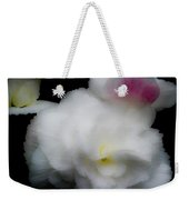 Pink And Yellow On White 5 Weekender Tote Bag