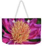 Pink And Yellow Peony Weekender Tote Bag