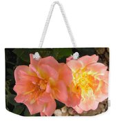 Pink And Yellow Roses Weekender Tote Bag