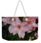 Pink Asiatic Lilies 1 Weekender Tote Bag