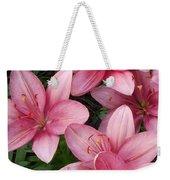 Pink Asiatic Lilies 2 Weekender Tote Bag