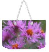Pink Autumn Flowers Weekender Tote Bag