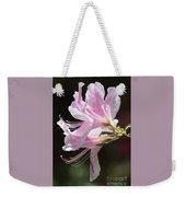 Pink Azalea Macro Weekender Tote Bag