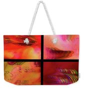 Pink Azalea Project Tetraptych Collage Weekender Tote Bag