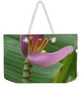 Pink Banana Flower Weekender Tote Bag