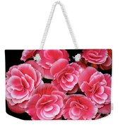 Pink Begonias Weekender Tote Bag