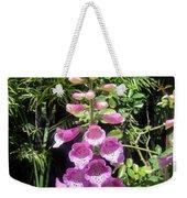 Pink Bell Flowers. Foxglove 03 Weekender Tote Bag