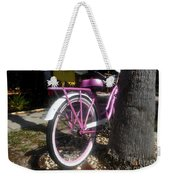 Pink Bicycle Weekender Tote Bag