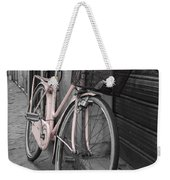 Pink Bicycle In Rome Weekender Tote Bag