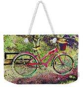Pink Bicycle Weekender Tote Bag