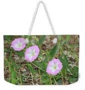 Pink Bindweed Weekender Tote Bag