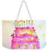Pink Birthday Cake Weekender Tote Bag